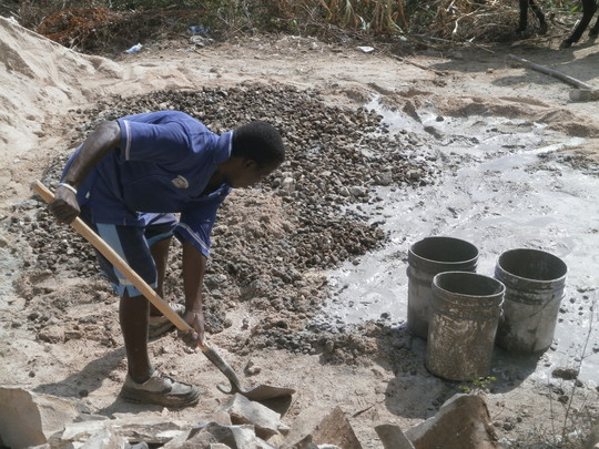 preparing mortar