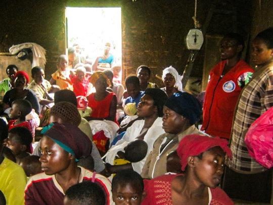 Monthly rural immunization event