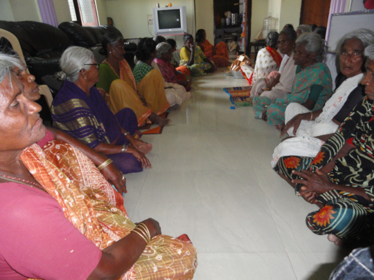 Sponsoring Old age people by giving timely food