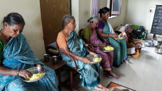 meal sponsorship for oldage women in old age home