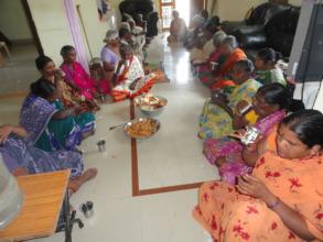 sponsorsing milk for poor oldagepersons in kurnool