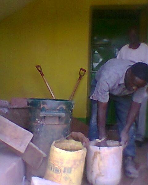 Start of Tile Laying