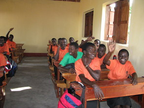 Students in a new classroom