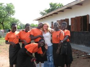 Students with NESEI staff member, Mari Wright