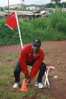 Killian preparing the field