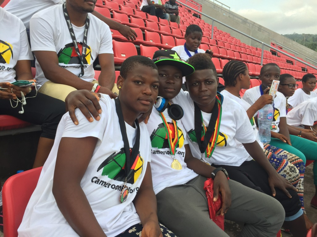 Our girls at the Africa Women Cup of Nations game