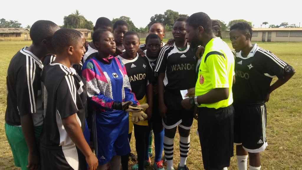 Referees quiz players to see what they learned!