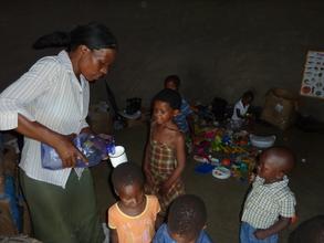 Inside the kindergarten