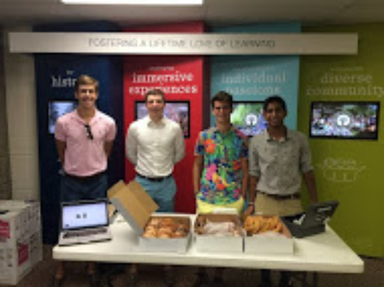 Selling Doughnuts for Charity
