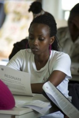 Student reads through Resonate's curriculum