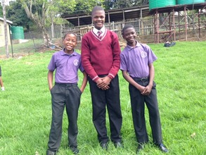 Happy and proud boys of Hope Academy
