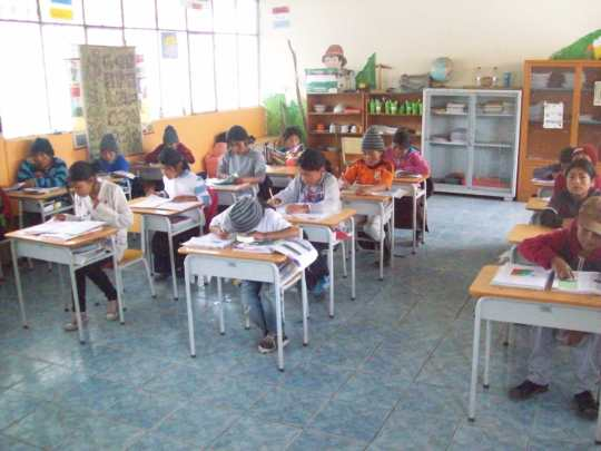 Classroom at nearly 4000m