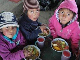 Scrummy lunches in Ecuador