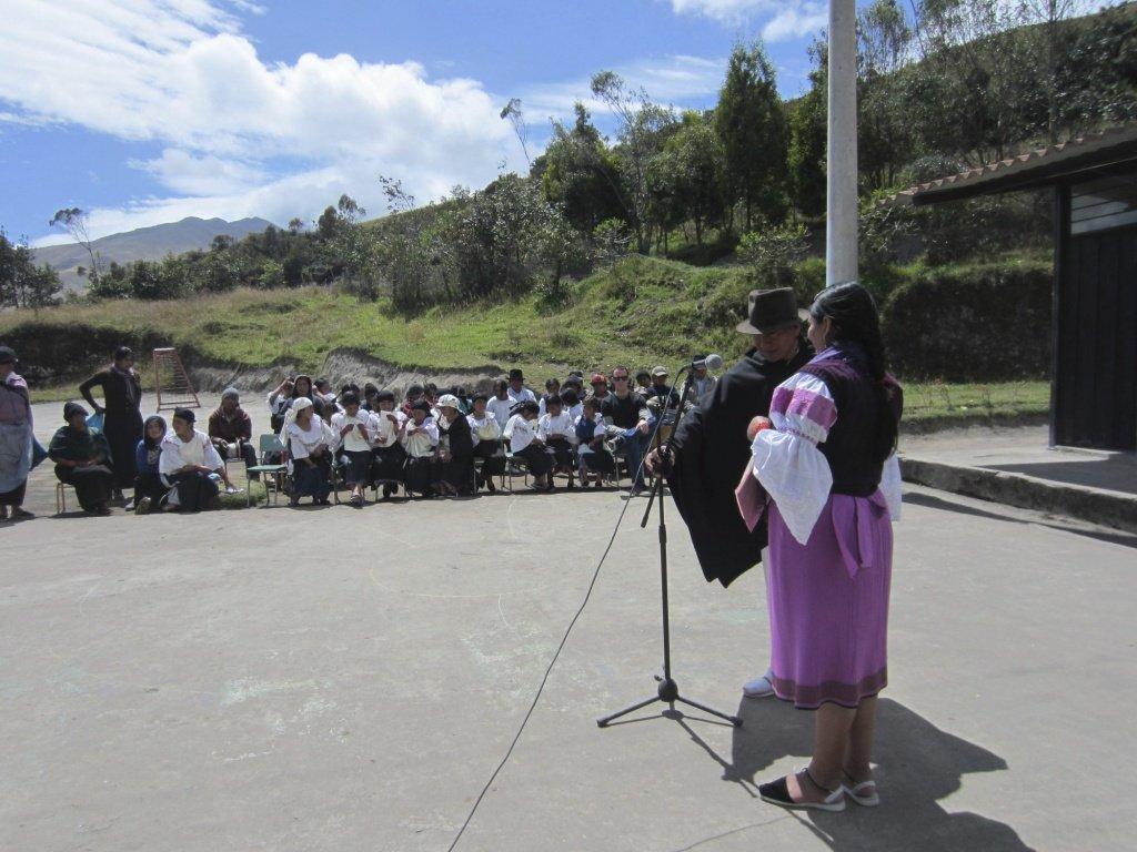 Final speeches in the school