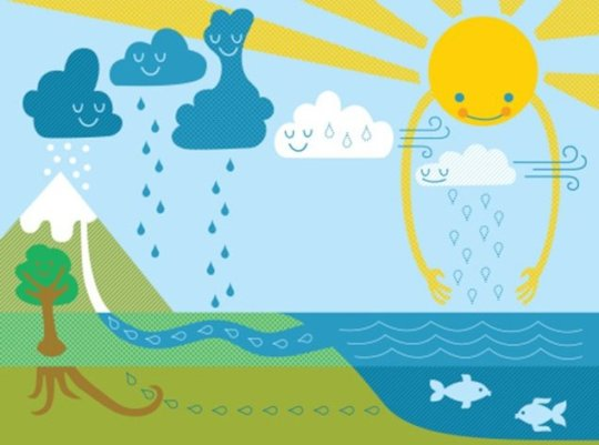 water cycle illustrated