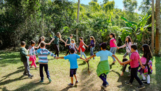 Playful activities with child of schools