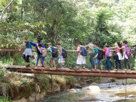 Eco Leaders visiting a clean stream