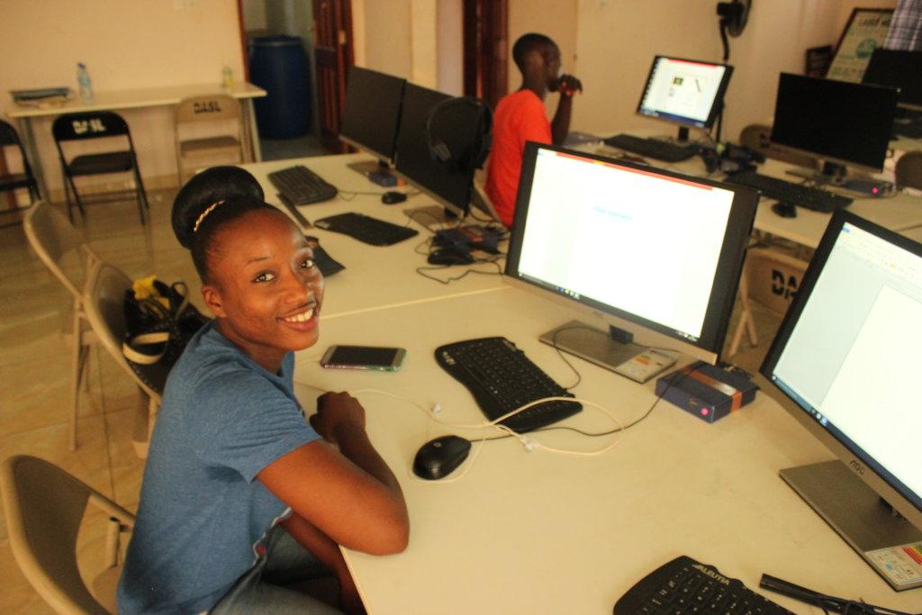 Dorcas in her computer class