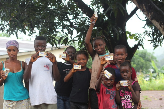 dettol and soap distributed