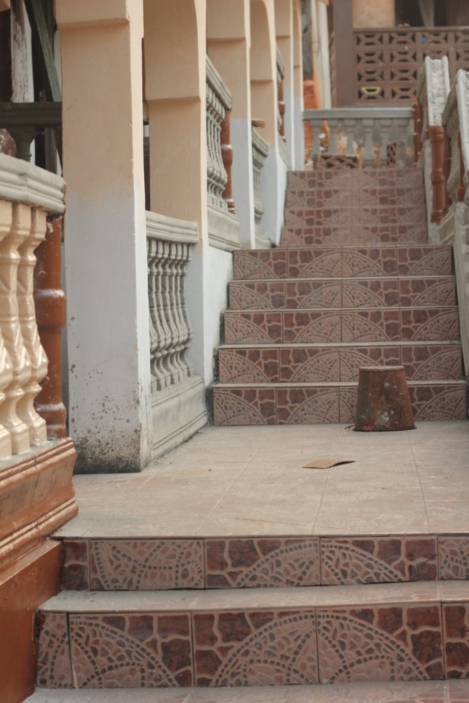 Beautifully tiled steps