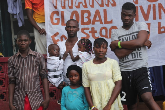 Ebola-orphaned family and relatives