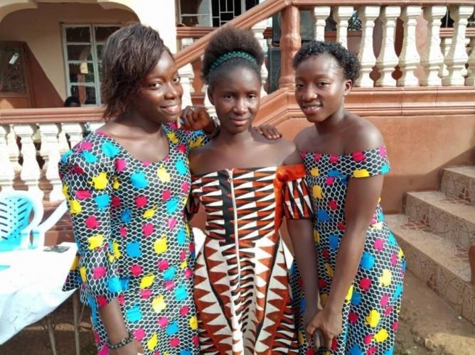 Geraldine, Aisha and Dorcas