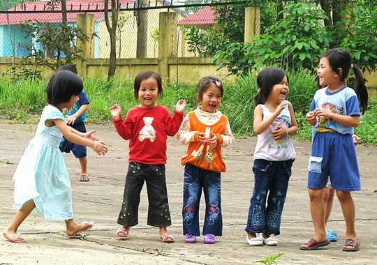 Children Playing at PeaceTrees Friendship Village