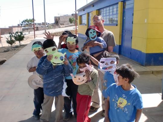 Kids at play in Peru