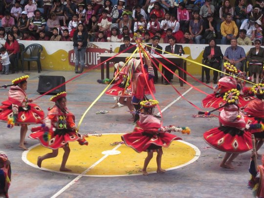 Traditional dancing in Peru