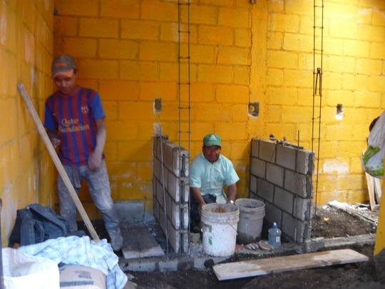 Construction of the toilets in Santa Maria