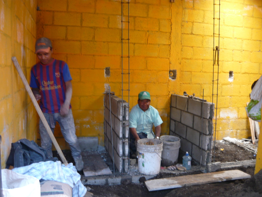 Construction of the toilets in Santa Maria