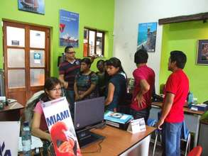A tour of a travel agents