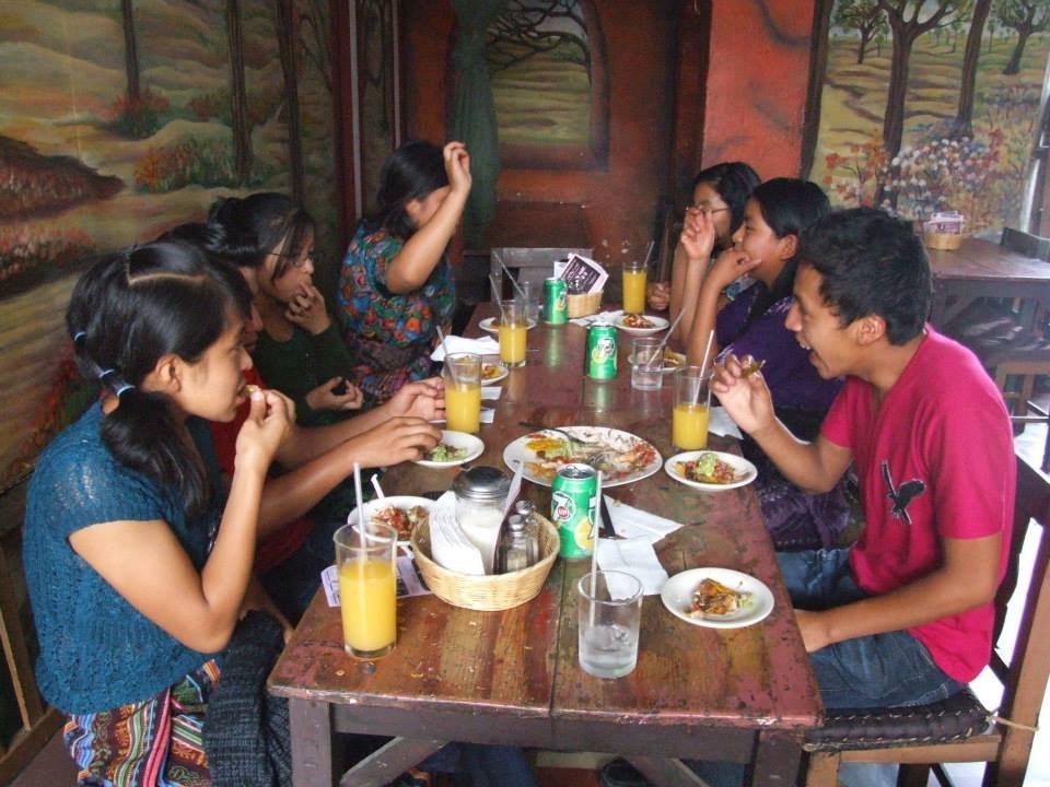 Lunch in a tourist restaurant