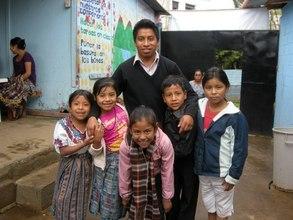 Teacher Jose Angel with 3rd grade