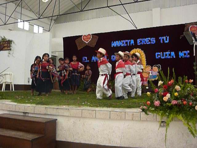 Traditional dancing for Mother