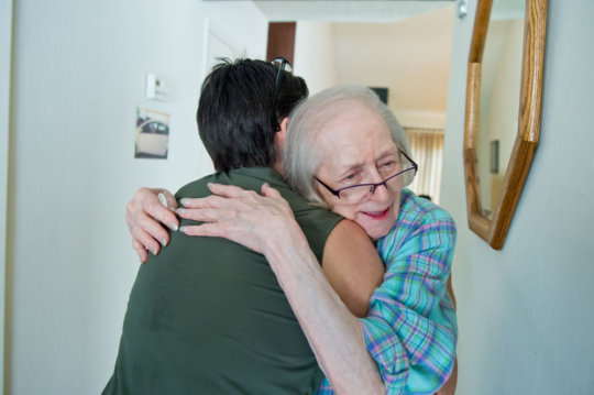 Vera thanks her volunteer