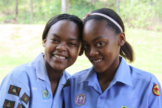 Khanyisa and sister Nkulu a Social Worker with KTD