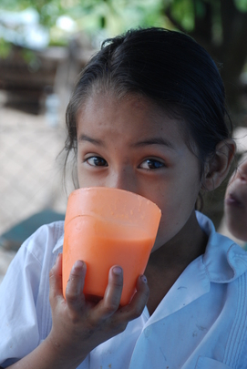 School meals for students in Honduras
