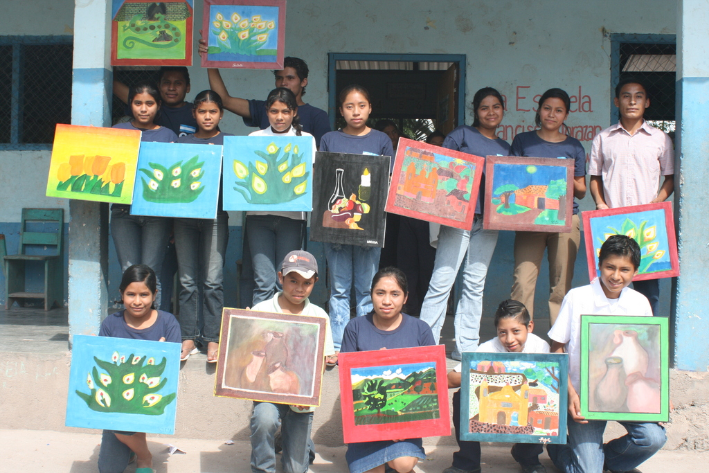 The Students show off their work