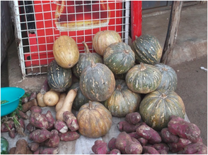 A vegetable seller's product for the day