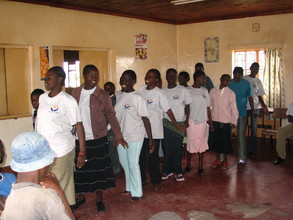 Binti Members performing a skit at Undugu Girls Center
