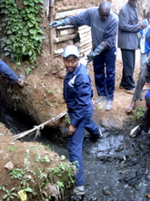 CFK Executive Director Salim Mohamed participates in clean-up