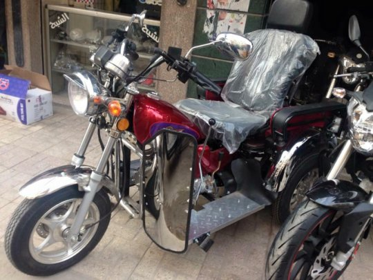 Accessible motorcycle physically challenged humans