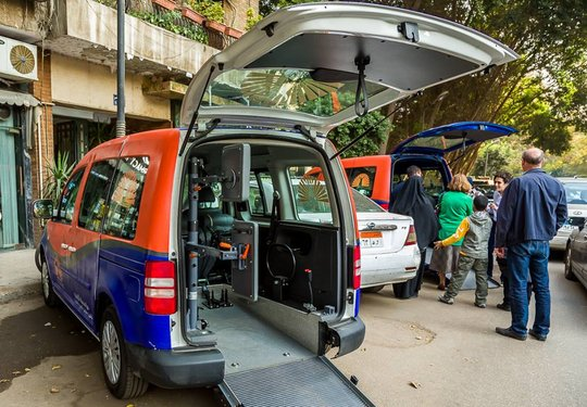 1st accessible Alhassan Foundation cars