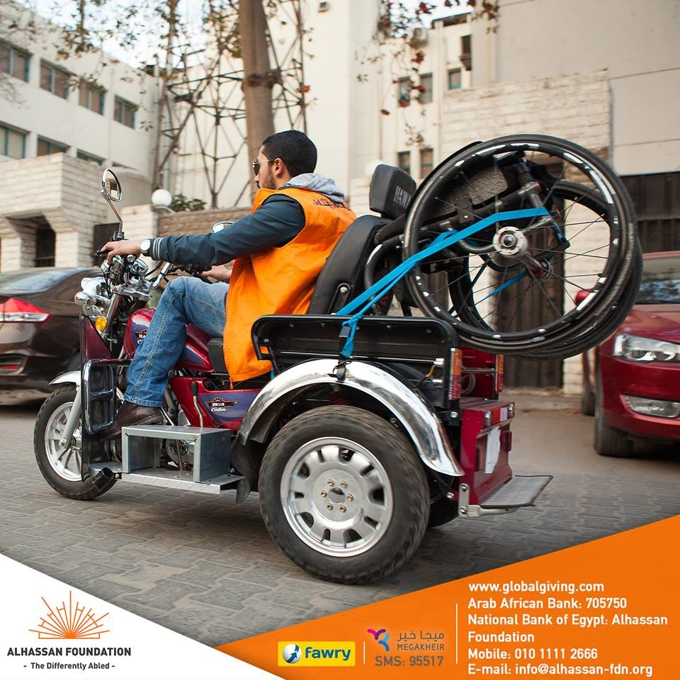 Provide 300 accessible transportation in Egypt!
