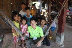 Local children visit Youth Star volunteer Sopheak