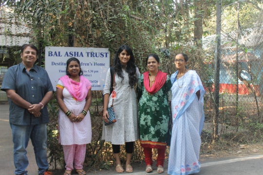 Kavita with Project Leader and Social Workers