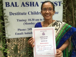 Ms. Jayshree with certificate