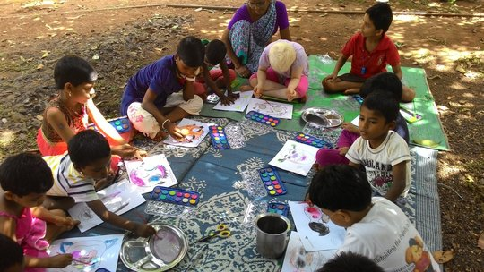Children participating in the activity