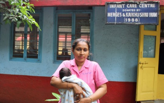One of the dedicated Nurses of Bal Asha